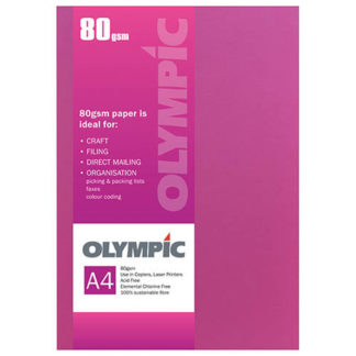 Olympic A4 Intensive Pink 80GSM 30 Sheets