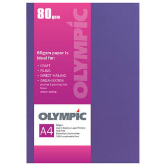 Olympic A4 Intensive Lilac 80GSM 30 Sheets