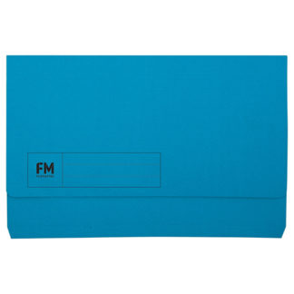 FM Document Wallet Blue Foolscap