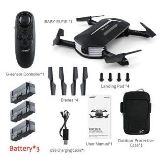 JJRC H37 Mini Baby Elfie (3x Battery kit)