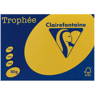 Trophee A4 Intensive Yellow 80GSM 500 Sheets