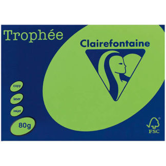 Trophee A4 Fluoro Green 80GSM 500 Sheets