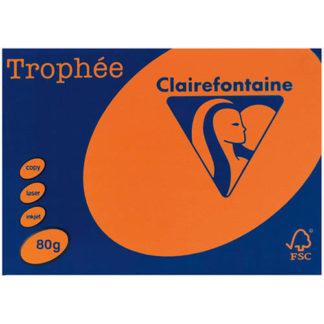 Trophee A4 Fluoro Orange 80GSM 500 Sheets