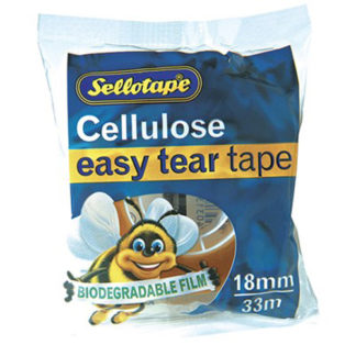 Sellotape Cellulose Clear 18mm X33M