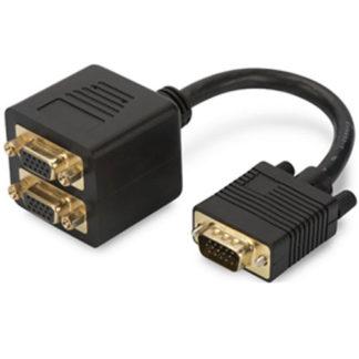 Digitus VGA to 2x VGA Splitter 0.2m Monitor Adapter