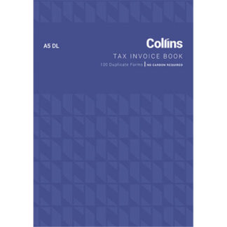 Collins Tax Invoice A5DL - No Carbon