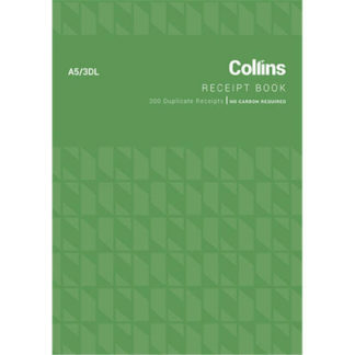 Collins Cash Receipt A5 3DL - No Carbon