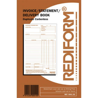 Rediform Book R/Inv/D2 Invoice Statement Delivery