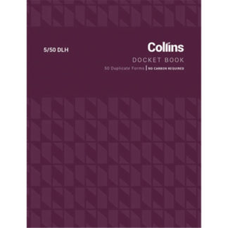 Collins Docket Book 5/50DLh - No Carbon