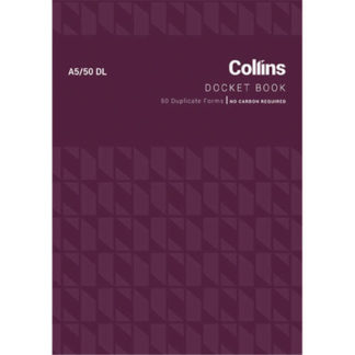 Collins Docket Book A5/50DL - No Carbon