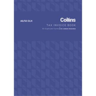 Collins Tax Invoice A6/50DL - No Carbon