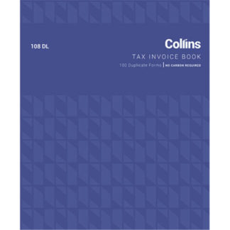 Collins Tax Invoice 108DL - No Carbon