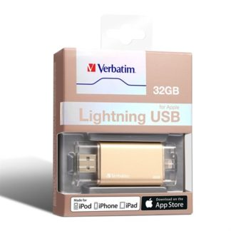 Verbatim Apple Lightning USB 3.0 Drive 32GB - Gold