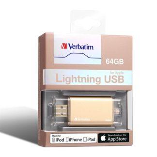 Verbatim Apple Lightning USB 3.0 Drive 64GB - Gold