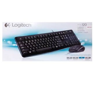 Logitech MK120 USB Wired Keyboard and Mouse - Box of 4 Units