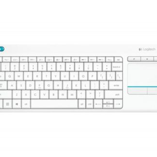 Logitech K400 Plus Wireless Keyboard with Touch Pad White