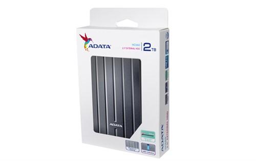 """ADATA HC660 Choice 2.5"""" USB 3.0 2TB Titanium External HDD"""