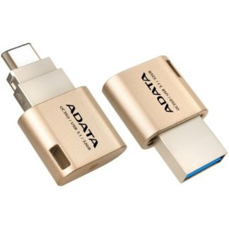 ADATA UC350 Gold USB3.1 Type A + Type-C 32GB Golden Flash Drive
