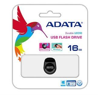 ADATA UD310 Dashdrive Durable USB 2.0 16GB Black Tiny Flash Drive