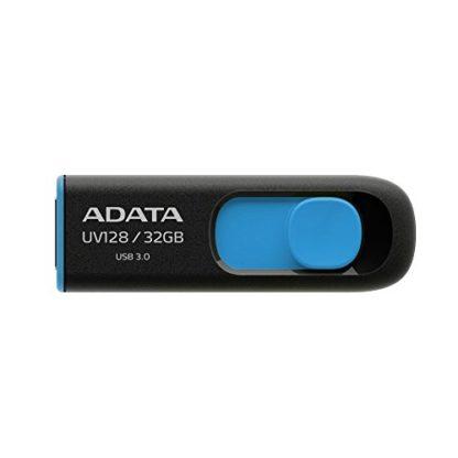 ADATA UV128 Dashdrive Retractable USB 3.0 32GB Blue/Black Flash Drive