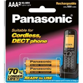 Panasonic Cordless DECT AAA Rechargeable 2pk