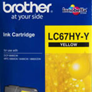 Brother Ink LC67HC Yellow