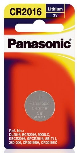 Panasonic Lithium 3v Battery CR2016 1pk