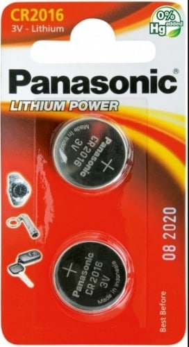 Panasonic Lithium 3v Batteries CR2016 2pk