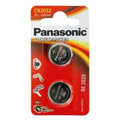 Panasonic Lithium 3v Battery CR2032 2pk
