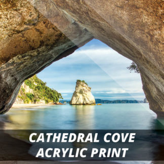 Cathedral Cove NZ Fine Art Acrylic Print 20x20