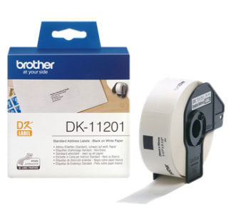 Brother DK11201 400 Address Labels 29mmx90mm