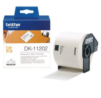 Brother DK11202 300 Shipping/Name Badge Labels 62mmx100mm