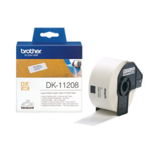 Brother DK11208 400 Address Labels 38mmx90mm