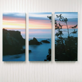 NZ Triptych Sunset