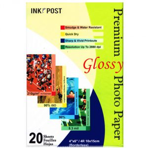 InkPost Glossy 210gsm 6x4 20pk
