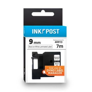 InkPost for Dymo 40913 9mmx7m Black on White