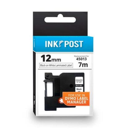 InkPost for Dymo 45013 12mmx7m Black on White
