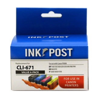 InkPost for Canon CLI671XL 4pk