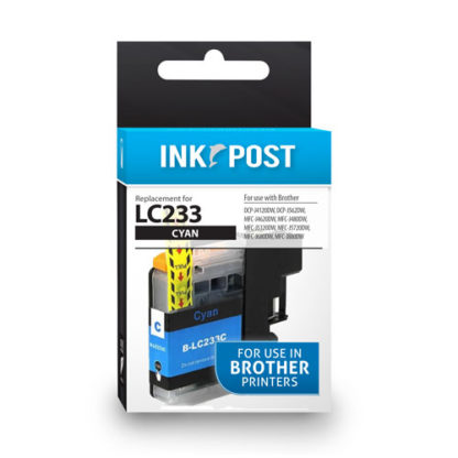 InkPost for Brother LC233 Cyan