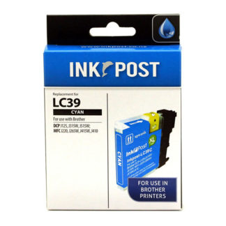 InkPost for Brother LC39 Cyan