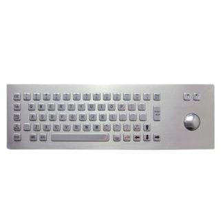 Inputel KB205 Stainless Steel Keyboard + Trackball