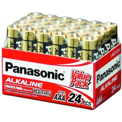 Panasonic Alkaline AAA Batteries 24pk
