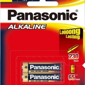 Panasonic Alkaline AAA Batteries 2pk