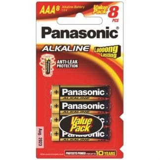 Panasonic Alkaline AAA Batteries 8pk