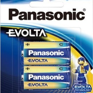 Panasonic Evolta Size C Batteries 2pk