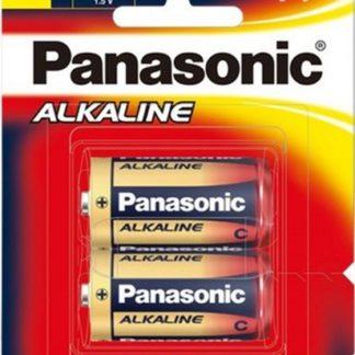 Panasonic Alkaline Size C Batteries 2pk