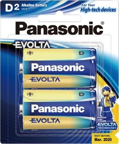 Panasonic Evolta Size D Batteries 2pk