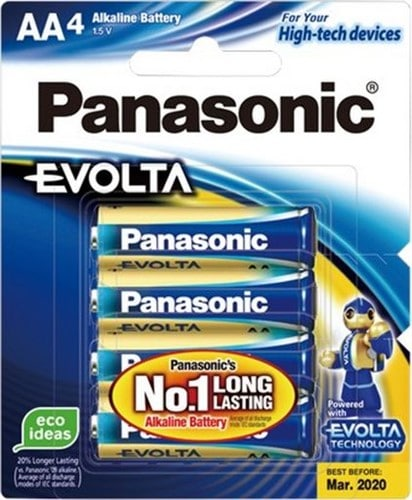 Panasonic Evolta AA Batteries 4pk