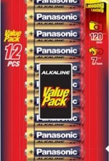 Panasonic Alkaline AA Batteries 12pk