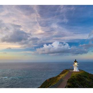 """Lighthouse Cape Reinga Framed Canvas Art 40""""x17"""""""